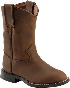 Justin Boys' Roper Cowboy Boots - Round Toe, , hi-res