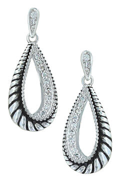 Montana Silversmiths Women's Frosted Rope Twist Earrings, , hi-res