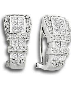 Kelly Herd Women's Ranger Style Buckle Earrings, , hi-res
