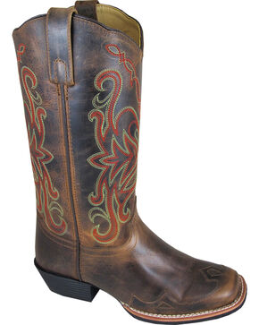 Smoky Mountain Rialto Cowgirl Boots - Square Toe, Brown, hi-res