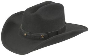 Bullhide Runaway Wool Cowgirl Hat, Black, hi-res