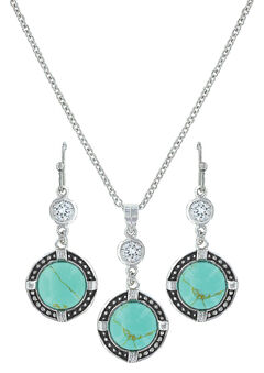 Montana Silversmiths True North Turquoise Jewelry Set , , hi-res