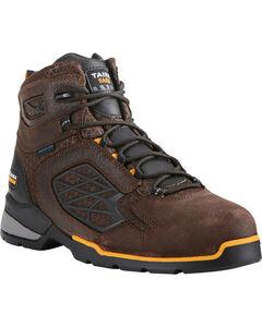"""Ariat Men's Rebar Flex 6"""" H2O Brown Work Boots - Soft Toe, , hi-res"""