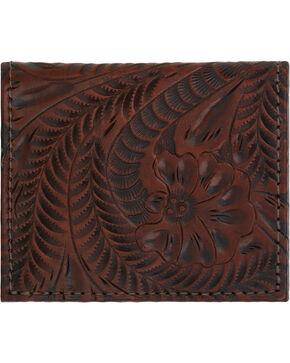 American West Boyfriend Ladies Chestnut Brown Bi-Fold Wallet, Chestnut, hi-res