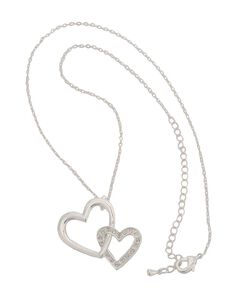 Montana Silversmiths Bedecked Double Heart Necklace, , hi-res