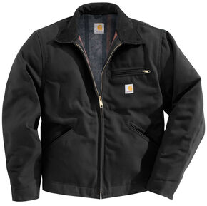 Carhartt Duck Detroit Blanket Lined Canvas Jacket - Big & Tall, Black, hi-res