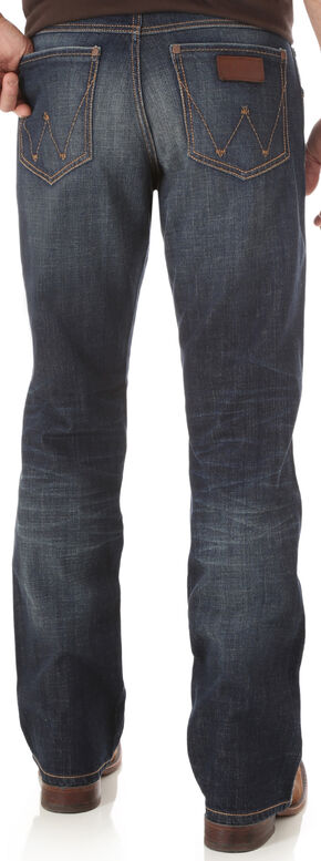 Wrangler Retro Men's Indigo Relaxed Boot Cut Jeans - Big and Tall, Indigo, hi-res