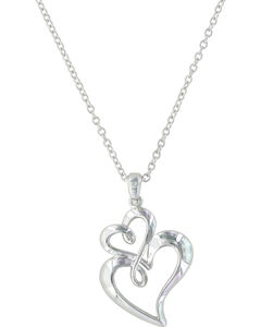 Montana Silversmiths Women's Infinite Love Heart Necklace , , hi-res
