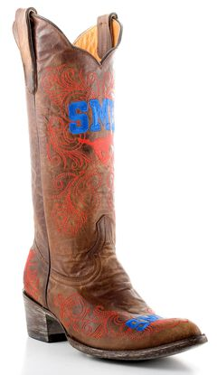 Gameday Southern Methodist University Cowgirl Boots - Pointed Toe, , hi-res