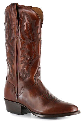 El Dorado Tan Vanquished Calf Cowboy Boots - Round Toe, Tan, hi-res