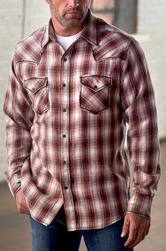 Ryan Michael Men's Vintage Dobby Plaid Shirt, , hi-res