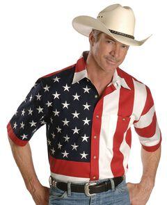 Rangewear by Scully USA Flag Western Shirt - Big, , hi-res