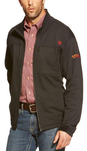 Ariat Men's Flame-Resistant Polartec Powerstretch Jacket, Black, hi-res