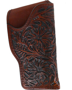 3D Brown Floral Tooled Glock Holster, , hi-res