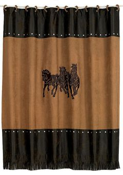 Three Horses Shower Curtain, , hi-res
