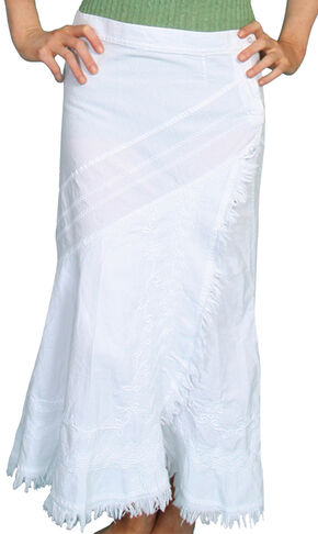 Scully Embroidered Western Skirt, White, hi-res