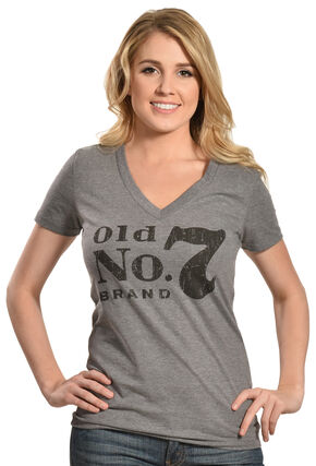 Jack Daniel's Women's Old No. 7 Short Sleeve T-Shirt, Grey, hi-res