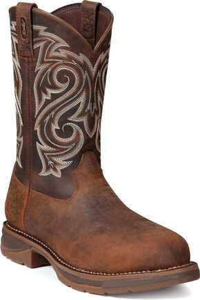 Durango Men's Rebel Work Boot - Steel Toe, Chocolate, hi-res