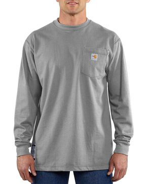 Carhartt Flame-Resistant Long-Sleeve Work Shirt - Big & Tall, Grey, hi-res