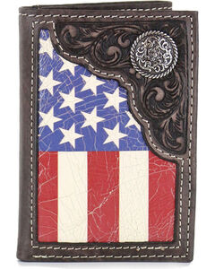 Cody James Men's American Flag Tri-Fold Wallet , , hi-res