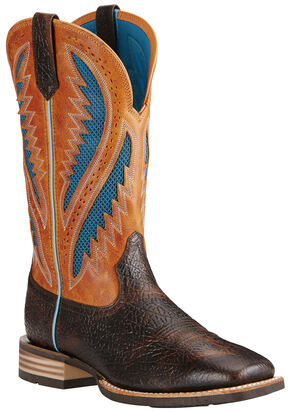 Ariat Men's Quickdraw Venttek™ Boots - Wide Square Toe, Brown, hi-res