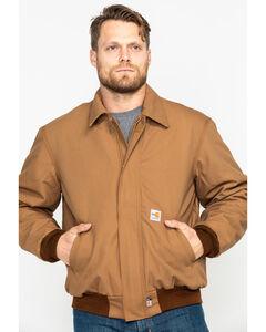 Carhartt Men's Flame-Resistant Duck Bomber Jacket, , hi-res