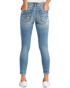 Silver Women's Indigo Avery Ankle Jeans - Skinny Leg, , hi-res