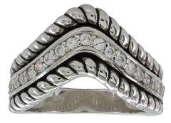 Montana Silversmiths Women's Roped Crown Ring, , hi-res
