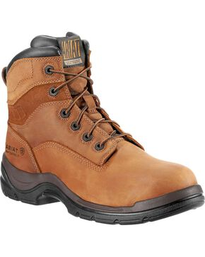 "Ariat Flex Pro Waterproof 6"" Lace-Up Work Boots - Composition Toe, Aged Bark, hi-res"