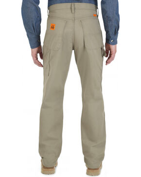 Wrangler Dark Khaki Flame Resistant Carpenter Pants, Khaki, hi-res