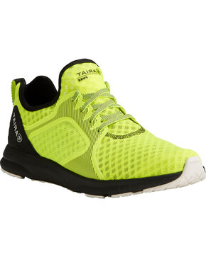 Ariat Men's Fuse Neon Yellow Mesh Shoes, Yellow, hi-res