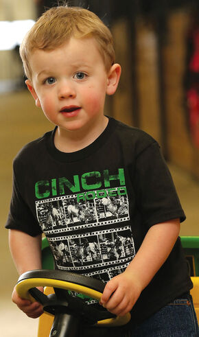 Cinch Toddler Boy's Black Graphic Print T-Shirt, Black, hi-res