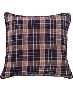 HiEnd Accents South Haven Blue Plaid Euro Accent Pillow, , hi-res