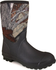 Smoky Mountain Men's Camo Amphibian Work Boots - Round Toe , , hi-res