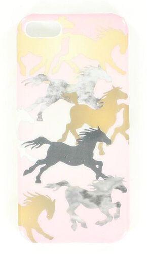 Running Horses iPhone 5 Case, Pink, hi-res