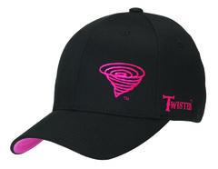 Twister Women's Flex Fit Hot Pink Logo Hat, Black, hi-res