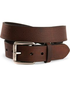 Ariat Triple Stitched Leather Belt - Reg & Big, , hi-res