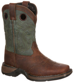 Lil' Durango Youth Saddle Western Boots - Square Toe, , hi-res