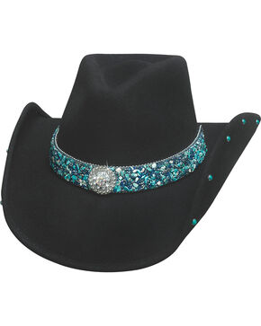 Bullhide Women's Dancin' Crazy Wool Felt Cowboy Hat , Black, hi-res