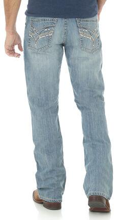 Wrangler Rock 47 Men's Slim Boot Cut Light Wash Jeans, , hi-res