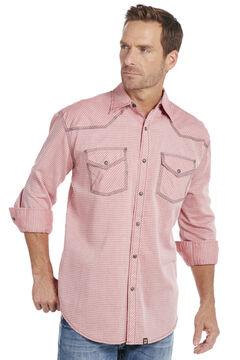 Cowboy Up Men's Red Plaid Snap Shirt, , hi-res