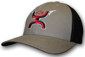 HOOey Men's Golf Striker FlexFit Hat  , Grey, hi-res