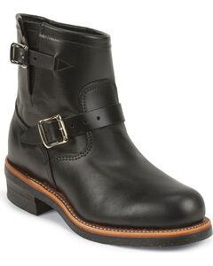 "Chippewa Men's Whirlwind Black 7"" Engineer Boots - Steel Toe, , hi-res"