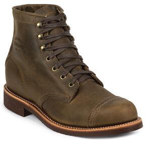 Chippewa Men's Crazy Horse General Utility Homestead Boots - Round Toe, Dark Brown, hi-res