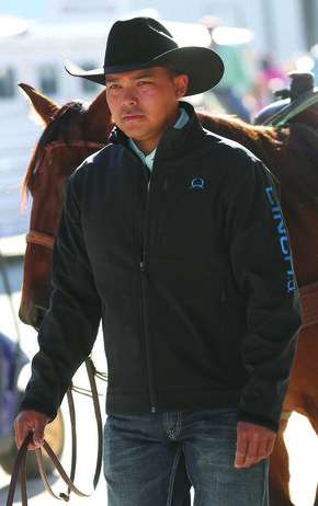 Cinch Black Bonded Blue Logo Jacket, Black, hi-res