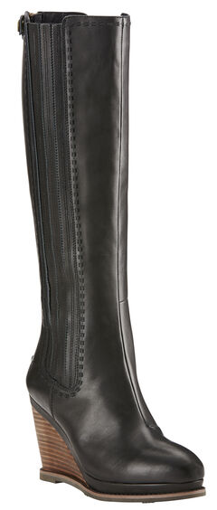 Ariat Black Limousine Ryman Wedge Cowgirl Boots - Round Toe, , hi-res