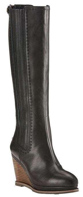 Ariat Black Limousine Ryman Wedge Cowgirl Boots - Round Toe, Black, hi-res