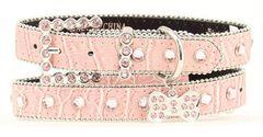 Blazin Roxx Croc Print Dog Collar - M-L, , hi-res