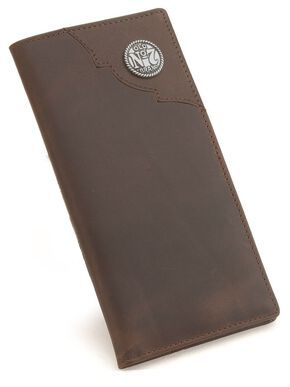 Jack Daniel's Leather Rodeo Wallet, Brown, hi-res