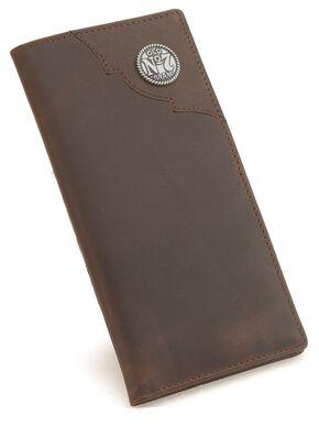 Jack Daniel's Leather Rodeo Wallet, Brown, hi-res
